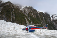 Helicopter on Franz Josef Glacier Royalty Free Stock Image