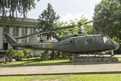 Helicopter in front of History museum in Ho Chi Minh, Vietnam Stock Photos
