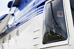 Helicopter fuselage detail Stock Photo
