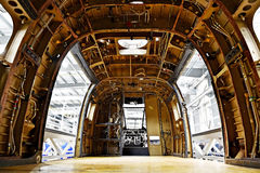 Helicopter fuselage in a factory Stock Images