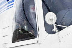 Helicopter fuselage and pilot cockpit. Detail with helicopter fuselage and pilot cockpit Royalty Free Stock Photos