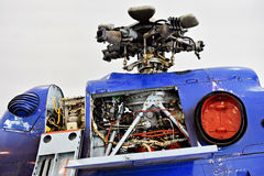 Helicopter fuselage and rotor blade Stock Photography