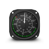 Helicopter gauge - air speed indicator Royalty Free Stock Images