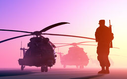 The helicopter Royalty Free Stock Photography