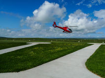 The helicopter in heliport,campbell national park,australia Royalty Free Stock Images