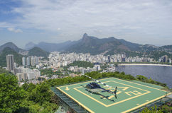 A helicopter in a heliport in Rio de Janeiro Royalty Free Stock Photography