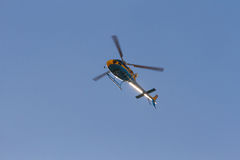 Helicopter Highway Traffic Monitoring Royalty Free Stock Image