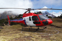 Helicopter in the Himalayas Stock Photos