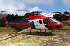 Helicopter in the Himalayas Royalty Free Stock Photos