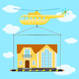 Helicopter house Royalty Free Stock Photography