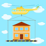 Helicopter house Stock Images