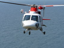 Helicopter hovering  Royalty Free Stock Images