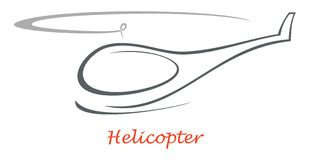 Helicopter -  icon Royalty Free Stock Photos