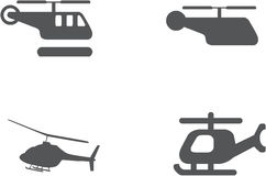 Helicopter Icon Set - Vector stock photo