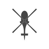 Helicopter icon. Simple vector icon Stock Photos