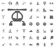 Helicopter icon. Sport illustration vector set icons. Set of 48 sport icons. Helicopter icon. Sport illustration vector set icons. Set of 48 sport icons Royalty Free Stock Images