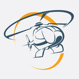 Helicopter icon Royalty Free Stock Photography