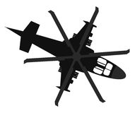Helicopter icon. Top view Royalty Free Stock Image