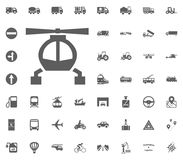 Helicopter icon. Transport and Logistics set icons. Transportation set icons.  Royalty Free Stock Images