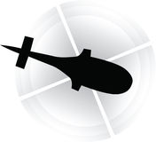 Helicopter icon Stock Photography