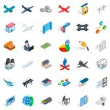 Helicopter icons set, isometric style. Helicopter icons set. Isometric style of 36 helicopter vector icons for web isolated on white background Stock Images