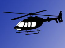 Helicopter illustration Royalty Free Stock Image