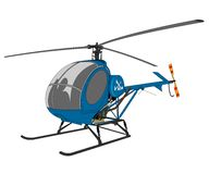 Helicopter illustration Royalty Free Stock Images