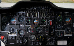 Helicopter instrument & contro Royalty Free Stock Image