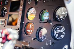 Helicopter Instruments Detail Stock Image