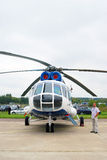 Helicopter at International Aerospace Salon MAKS-2 Royalty Free Stock Photos