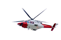 Helicopter isolated Stock Image