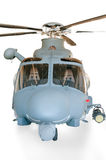 Helicopter isolated. Helicopter grey with white background Royalty Free Stock Photography