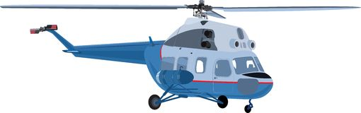 The helicopter isolated Stock Image