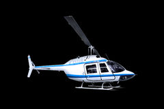Helicopter isolated over black stock photos