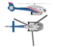 Helicopter isolated. Top and Front view Stock Photography