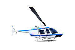 Helicopter isolated on white Stock Photos