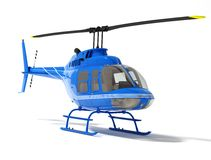 Helicopter isolated on a white background. High resolution 3d rendered image Royalty Free Stock Photo