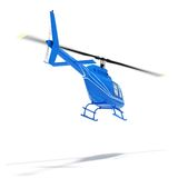 Helicopter isolated on a white background. Helicopter flight on a white background high resolution 3d rendered image Stock Photography