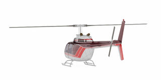 Helicopter isolated on the white background. Stock Image