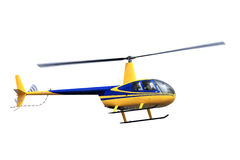 Flying colorful helicopter isolated on white background Stock Images