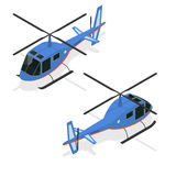 Helicopter Isometric View. Vector stock illustration