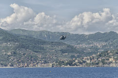 Helicopter of the Italian navy Royalty Free Stock Images