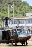 Helicopter of Japanese. Kagawa, Japan - April 23, 2017: helicopter of Japanese air force landing at Zentuji air force base, Japan Self Defense Forces Stock Photo