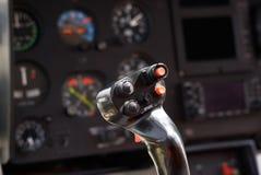 Helicopter joystick Stock Image