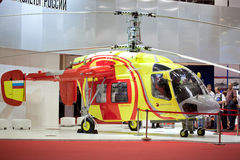 Helicopter ka-226t in pavilion Royalty Free Stock Photos