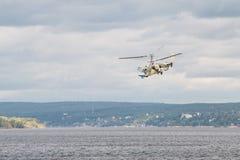 Helicopter Ka-52 Hokum B. Russian Kamov helicopter Ka 52 Hokum B Alligator aerobatics Stock Image