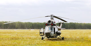 Helicopter landed Royalty Free Stock Images
