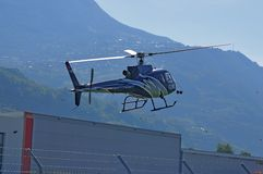 Helicopter landing Royalty Free Stock Photo