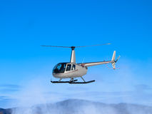 Helicopter landing Royalty Free Stock Images