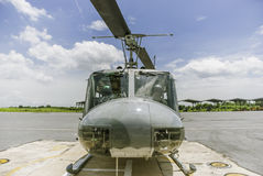 Helicopter landing.  Stock Photo